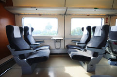 Chinese fast train interior Royalty Free Stock Photography
