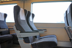 Chinese fast train interior Royalty Free Stock Images
