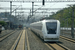 Chinese fast train royalty free stock image