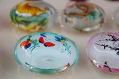 Chinese feature crafts snuff bottles Royalty Free Stock Images