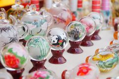 Chinese feature crafts snuff bottles Royalty Free Stock Image