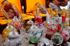 Chinese feature crafts snuff bottles Stock Photography