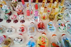 Chinese feature crafts snuff bottles Stock Photo