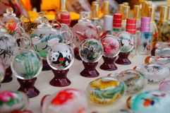 Chinese feature crafts snuff bottles Stock Image