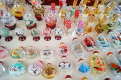 Chinese feature crafts snuff bottles Stock Images