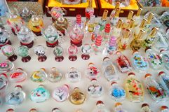 Chinese feature crafts snuff bottles Royalty Free Stock Photo