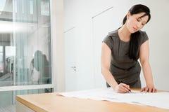 Chinese female architect Stock Photos