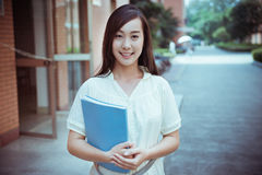 Chinese female college student Stock Photos