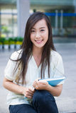 Chinese female college student Royalty Free Stock Photo