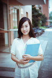 Chinese female college student Stock Image