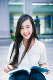 Chinese female college student Stock Photo