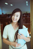 Chinese female college student Royalty Free Stock Images