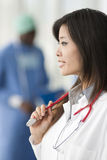 Chinese female doctor Stock Images