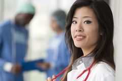 Chinese female doctor Royalty Free Stock Photos