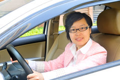 Chinese female driver Stock Photos