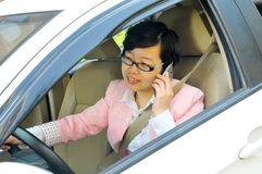 Chinese female driver royalty free stock photos