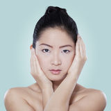 Chinese female model with healthy skin Stock Image