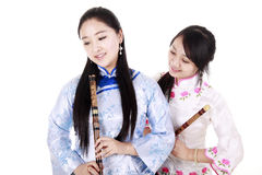 Chinese female musicians royalty free stock photo