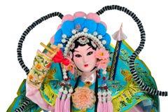 Chinese female opera doll Stock Photos