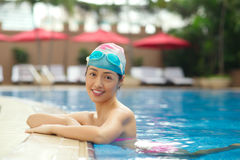 Chinese female swimmer Royalty Free Stock Images