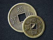Chinese feng shui coins royalty free stock images