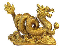 Chinese feng shui dragon royalty free stock photography