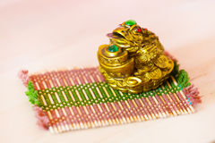 Chinese Feng Shui money frog for good luck and wealth Royalty Free Stock Images