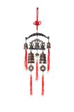 The chinese feng shui talisman. Chinese wind bell isolated on the white background royalty free stock images