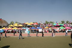Chinese Festival. This is an annual university festival with booths for students to display their crafts and projects. Also students compete against each other Royalty Free Stock Photography