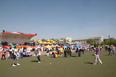 Chinese Festival. This is an annual university festival with booths for students to display their crafts and projects. Also students compete against each other Stock Photography