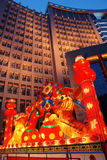 Chinese festival lantern. The festival lanterns are exhibited  during the Chinese New Year(Spring Festival) and Lantern Festival Stock Photo