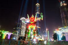 Chinese festival of lights in Guangzhou Royalty Free Stock Photo