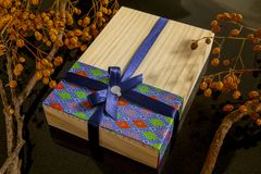 Chinese, festival, reunion, Mid-Autumn Festival, log gift box, dry tree royalty free stock image
