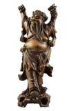 Chinese figurine of the drunkard. Antiquarian wooden figurine of the Chinese master Stock Photography