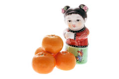 Chinese Figurines and Mandarins Stock Photography