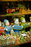 Chinese Figurines on sale at Wat Saket compound. Stock Photos