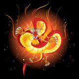 Chinese Fire Dragon New Year. An Illustration Of Chinese Dragon New Year Useful As Icon, Illustration And Background For Chinese New Year Theme royalty free illustration