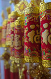 Chinese Firecracker Decoration. S on display for Chinese New Year Stock Images