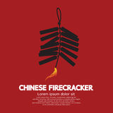 Chinese Firecracker. Object Vector Illustration Royalty Free Stock Photos