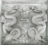 Chinese firedrake relief Stock Image