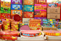 Chinese fireworks. Sold before spring festival Royalty Free Stock Photography