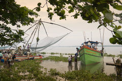 Chinese Fishing Net - Kerala - India Royalty Free Stock Image