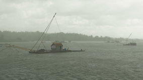 Chinese fishing net stock video footage