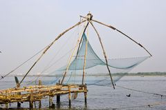Chinese fishing net Stock Photography
