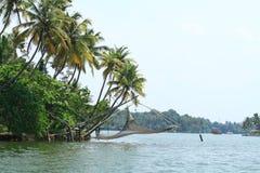 Chinese Fishing Nets. Cinese fishing nets in Ashatamudi  Lake, Kollam , Kerala, India Royalty Free Stock Image