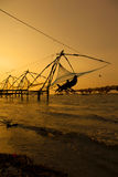 Chinese fishing nets. Royalty Free Stock Photography