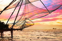 Chinese Fishing nets Stock Photography
