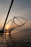 Chinese fishing nets. Chinese fishing net in Kochi, India Royalty Free Stock Image