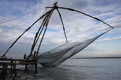 Chinese fishing nets. In Fort kochin, Kerala, India Stock Images
