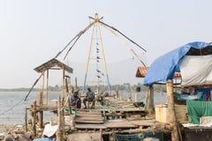 Chinese fishing nets (Cheena vala) in fort Kochin, Kerala, India Royalty Free Stock Photos